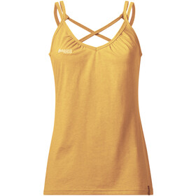 Bergans Cecilie Wool Singlet Women Sunflower Melange/White